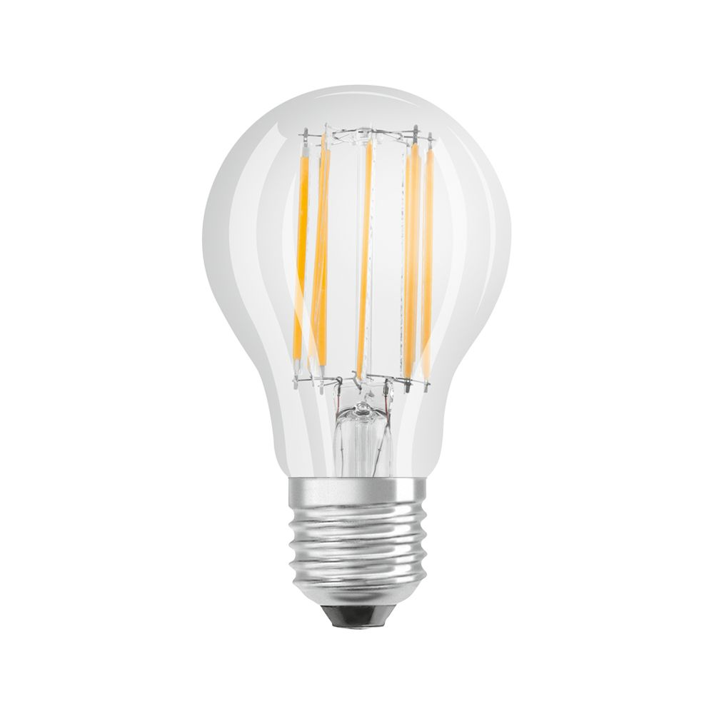 Osram Parathom Retrofit Classic E27 A60 12W 827 1521lm Clear | Dimmable - Extra Warm White - Replaces 100W