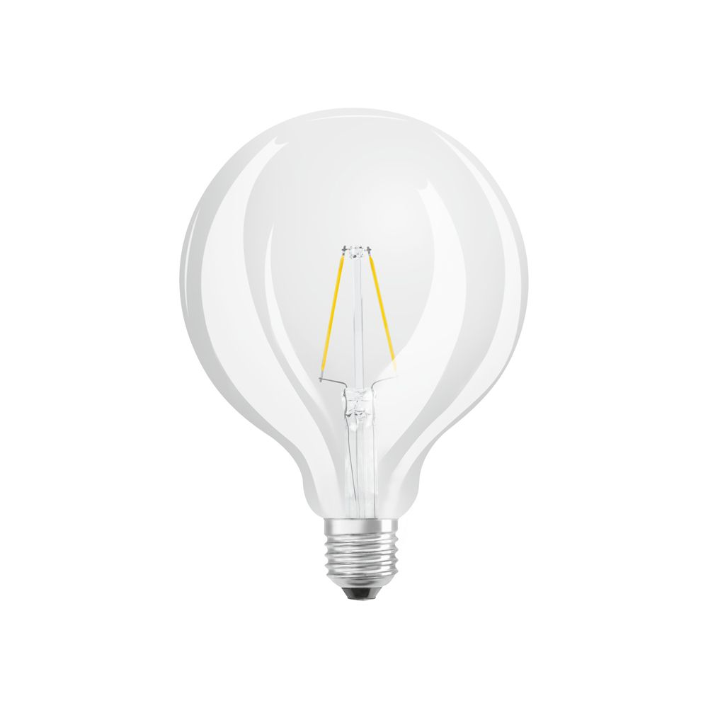 Osram LED Retrofit Classic E27 G125 4W 827 470lm Clear | Extra Warm White - Replaces 40W
