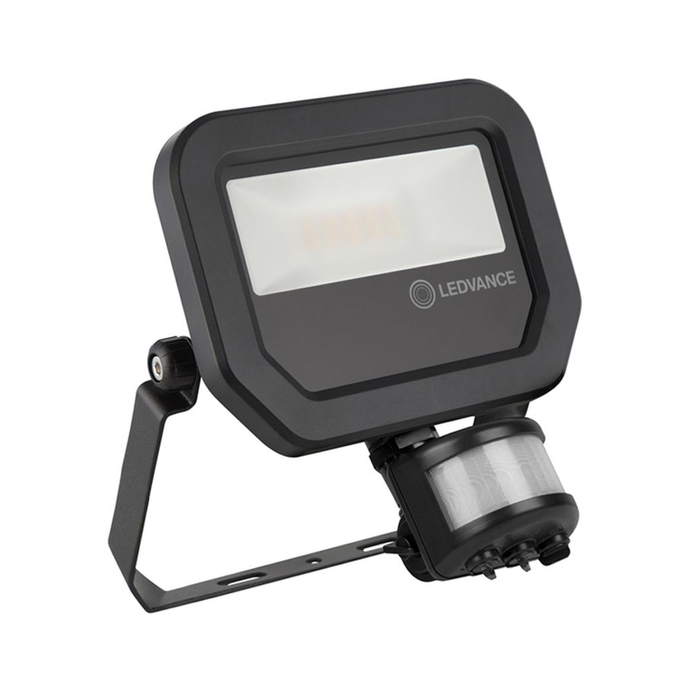 Ledvance LED Floodlight 10W 3000K 1100lm IP65 | with Sensor - Black - Symmetrical