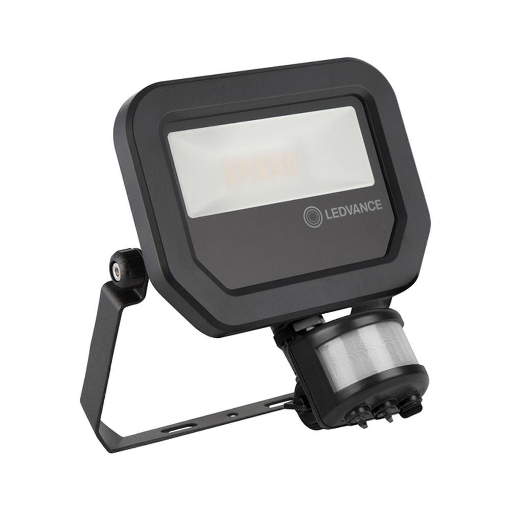 Ledvance LED Floodlight 10W 4000K 1200lm IP65 | with Sensor - Black - Symmetrical