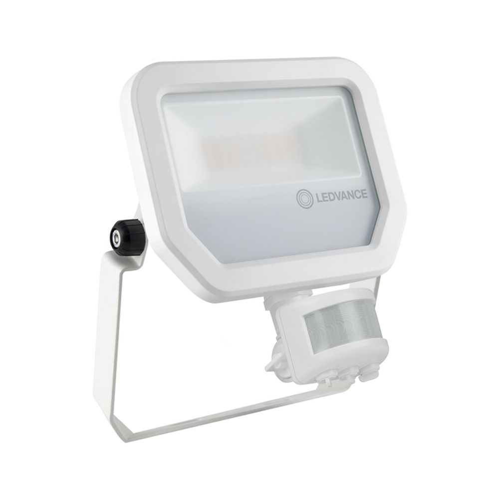 Ledvance LED Floodlight 20W 3000K 2200lm IP65 | with Sensor - White - Symmetrical