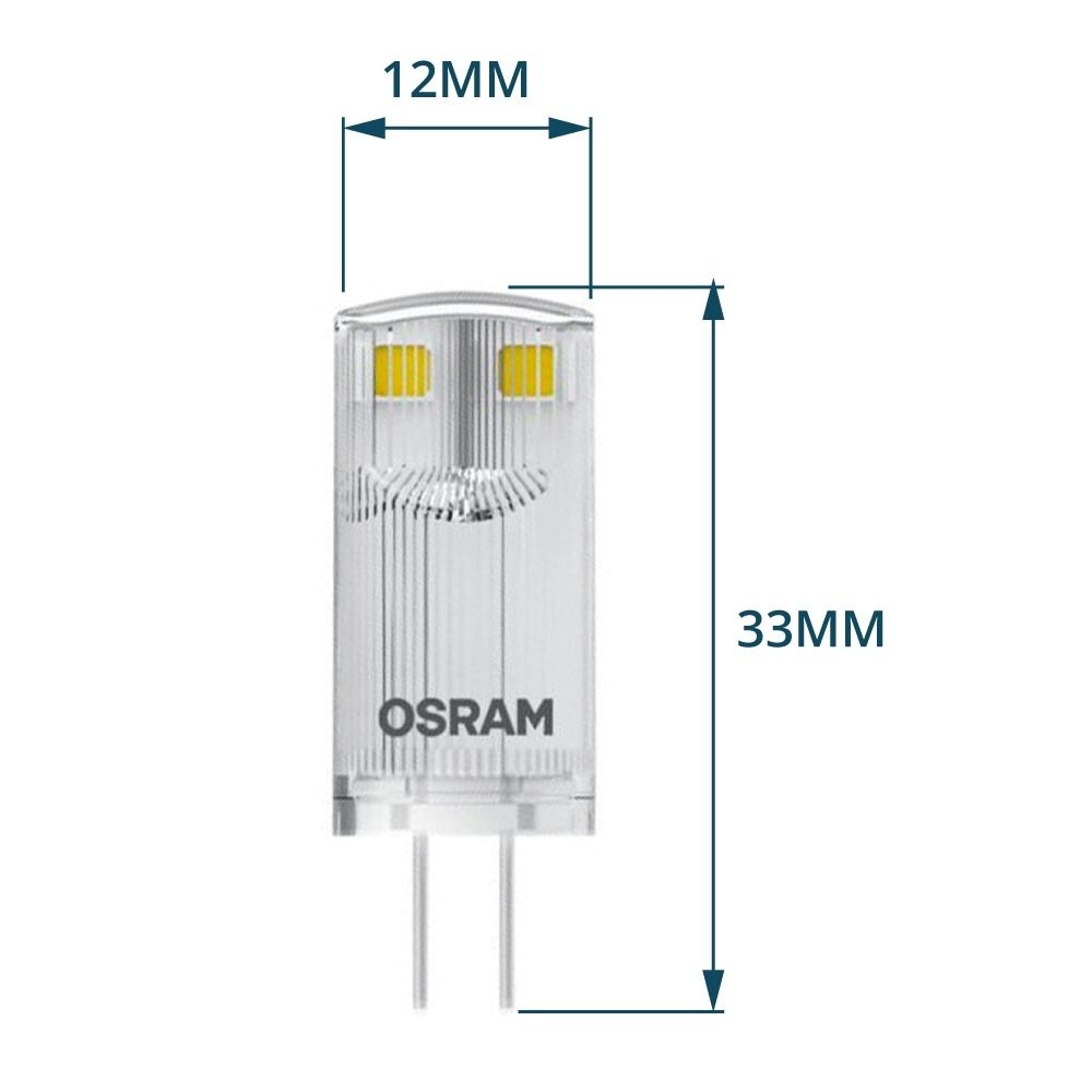 Osram Parathom Pin G4 0.9W 827 Clear | Replaces 10W