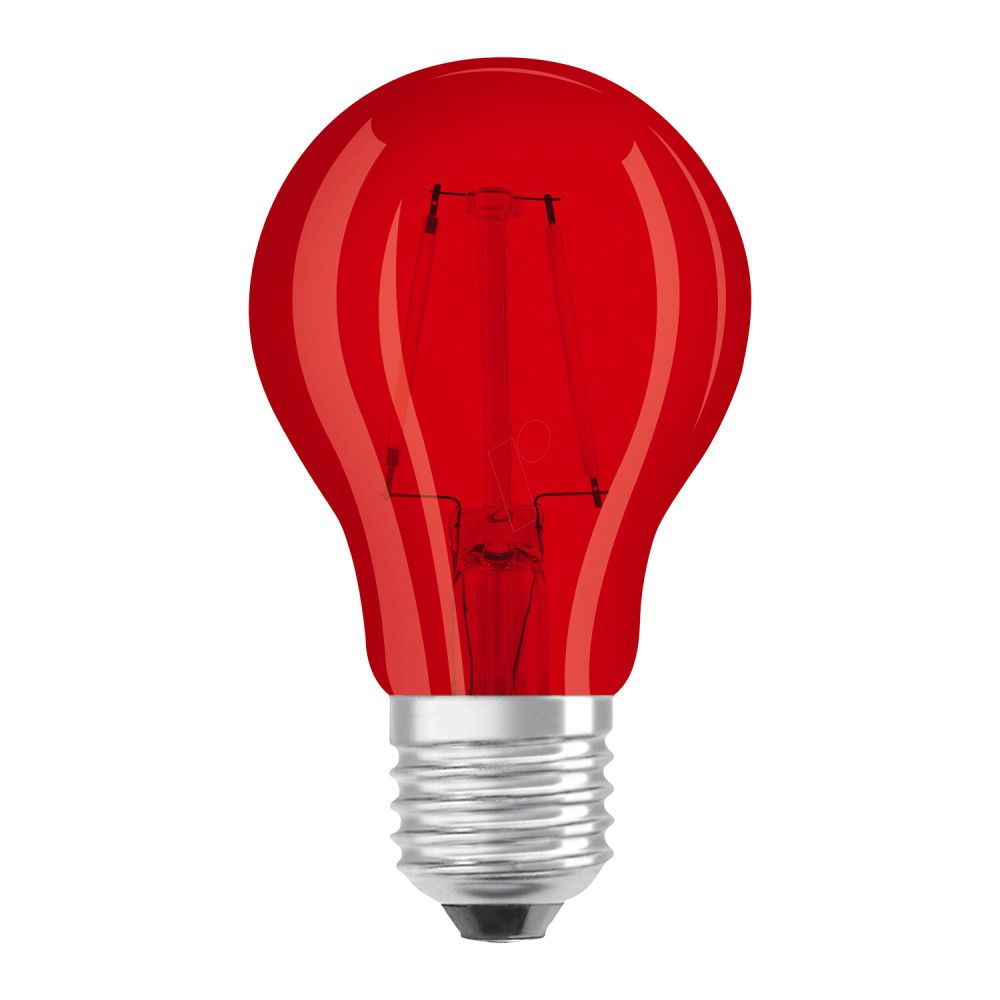 Osram LED STAR DECO Classic A Color E27 2.5W Rood Helder | Vervangt 15W