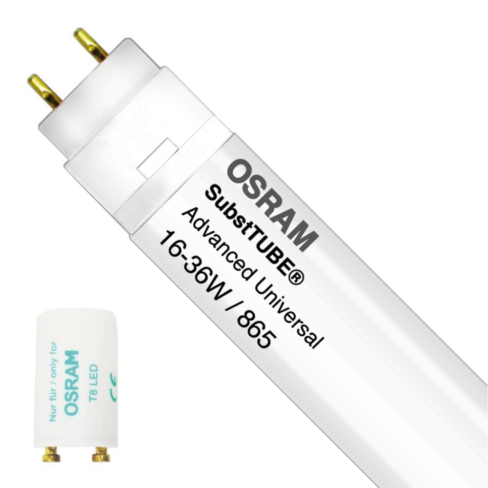 Osram SubstiTUBE Advanced UN 7.5W 865 60cm | Päivänvalo Valkoinen - Incl. LED Starter - Korvaa 18W