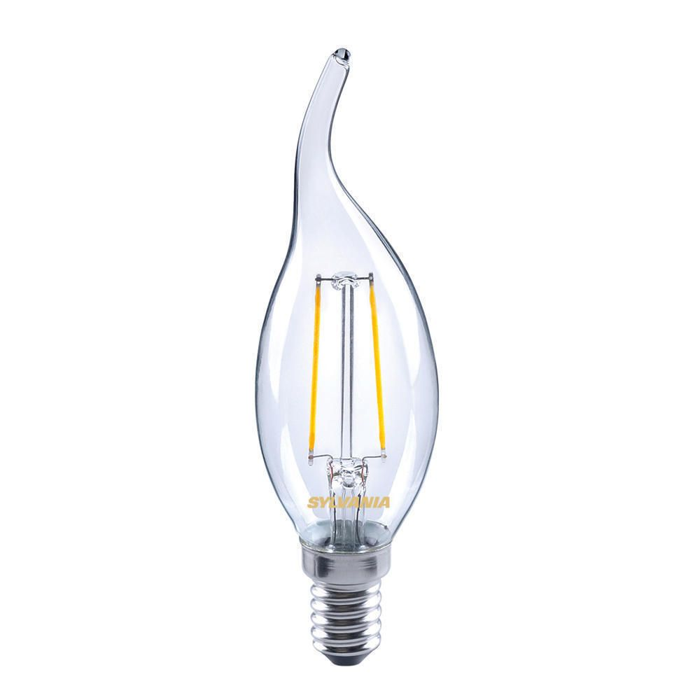Sylvania ToLEDo Retro Candle E14 Twisted Clear 2.5W | Replaces 25W