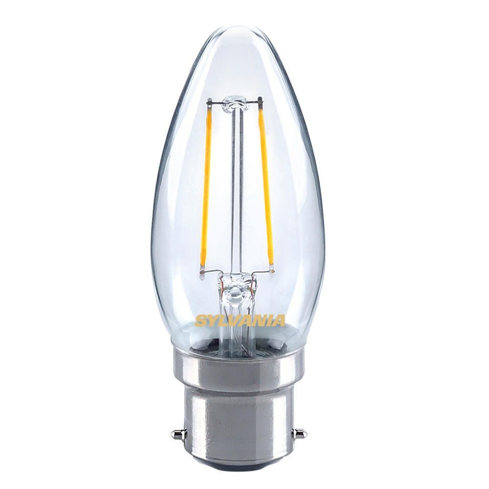 Sylvania ToLEDo Retro Candle B22 Clear 4W | Replaces 40W