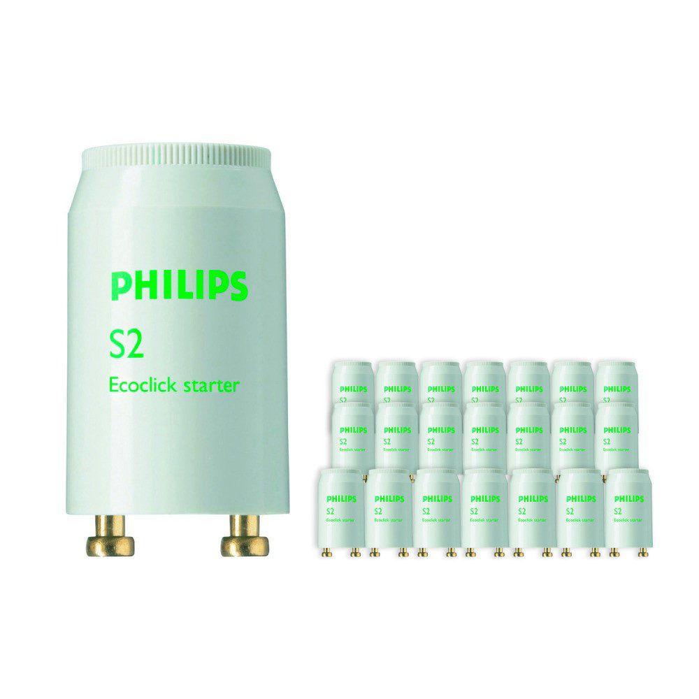 Mehrfachpackung 25x Philips S2 Starter 4-22W SER