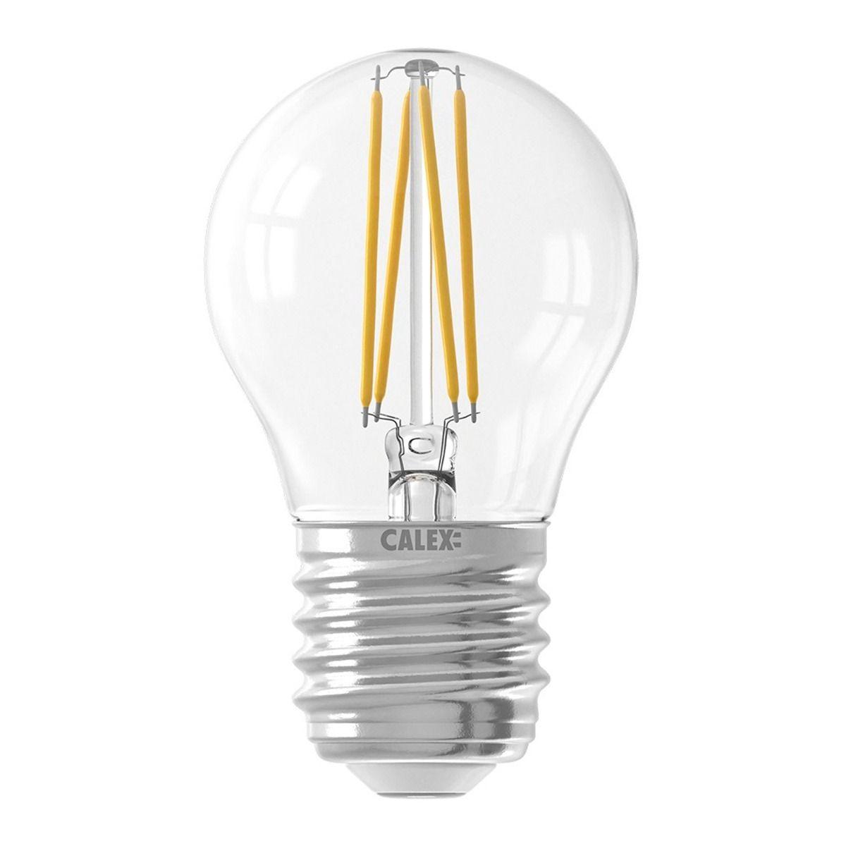 Calex Smart Kogelvormig LED Lamp E27 4,5W 450lm 1800-3000K Filament   Tuya Wifi - Afstembaar Wit