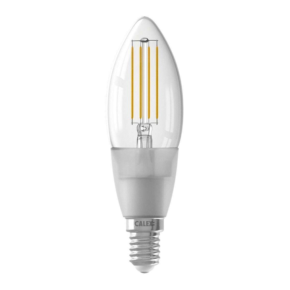 Calex Smart Kerze LED Glühbirne E14 4,5W 450lm 1800-3000K Fadenlampe | Tuya Wifi