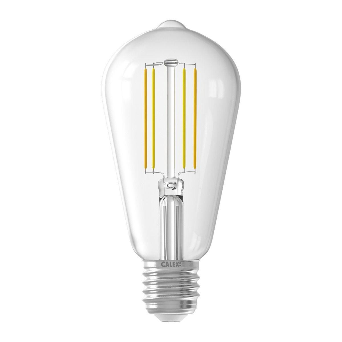 Calex Smart Rustikal Fadenlampe LED Glühbirne E27 7W 806lm 1800-3000  Tuya Wifi