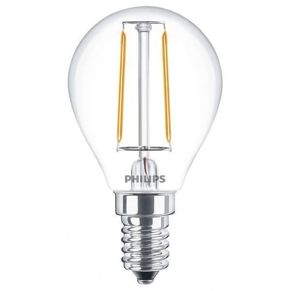 Philips Classic LEDluster E14 P45 2W 827 Clear | Replaces 25W