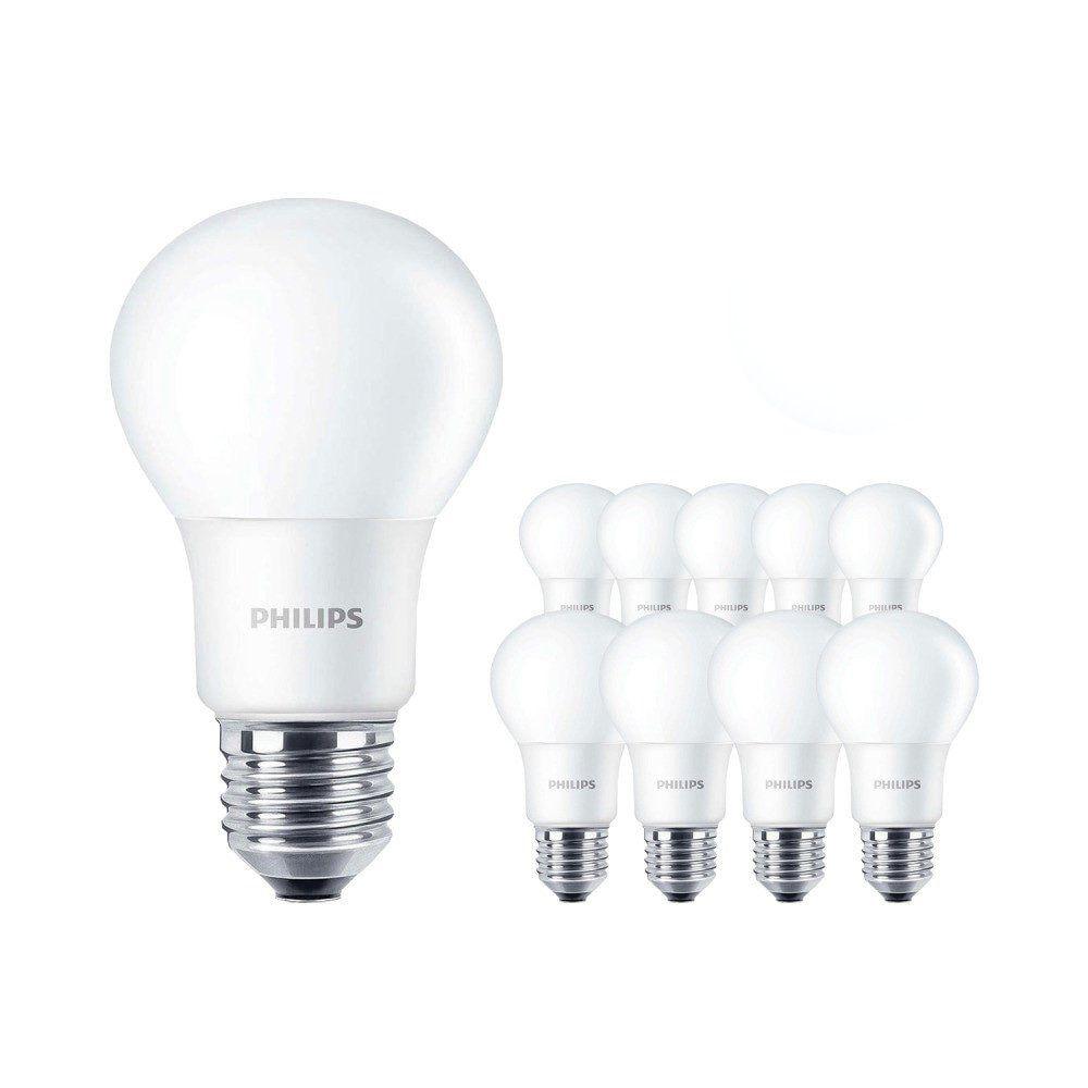 Fordelspakke 10x Philips CorePro LEDbulb E27 A60 8W 827 Matt | erstatter 60W