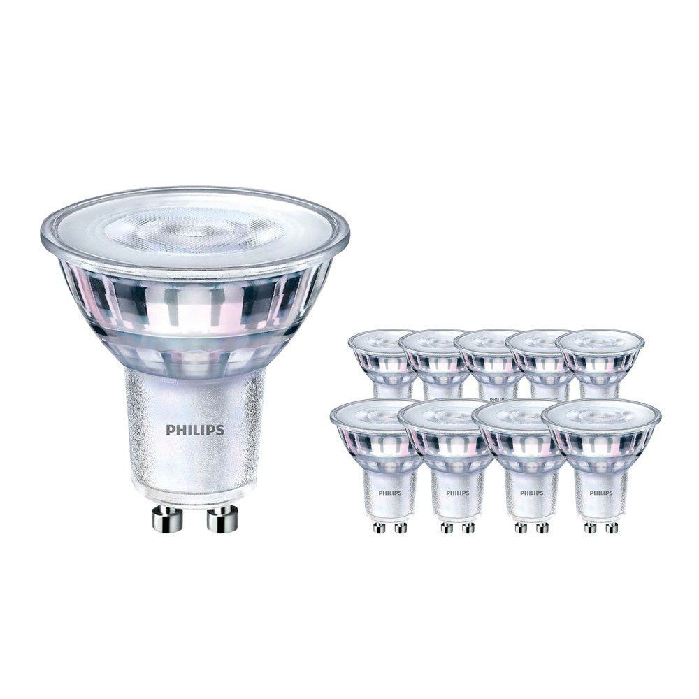 Multipack 10x Philips LEDspot MV Value GU10 3.7W 927 36D (MASTER) | Best Colour Rendering - DimTone Dimmable - Replaces 35W