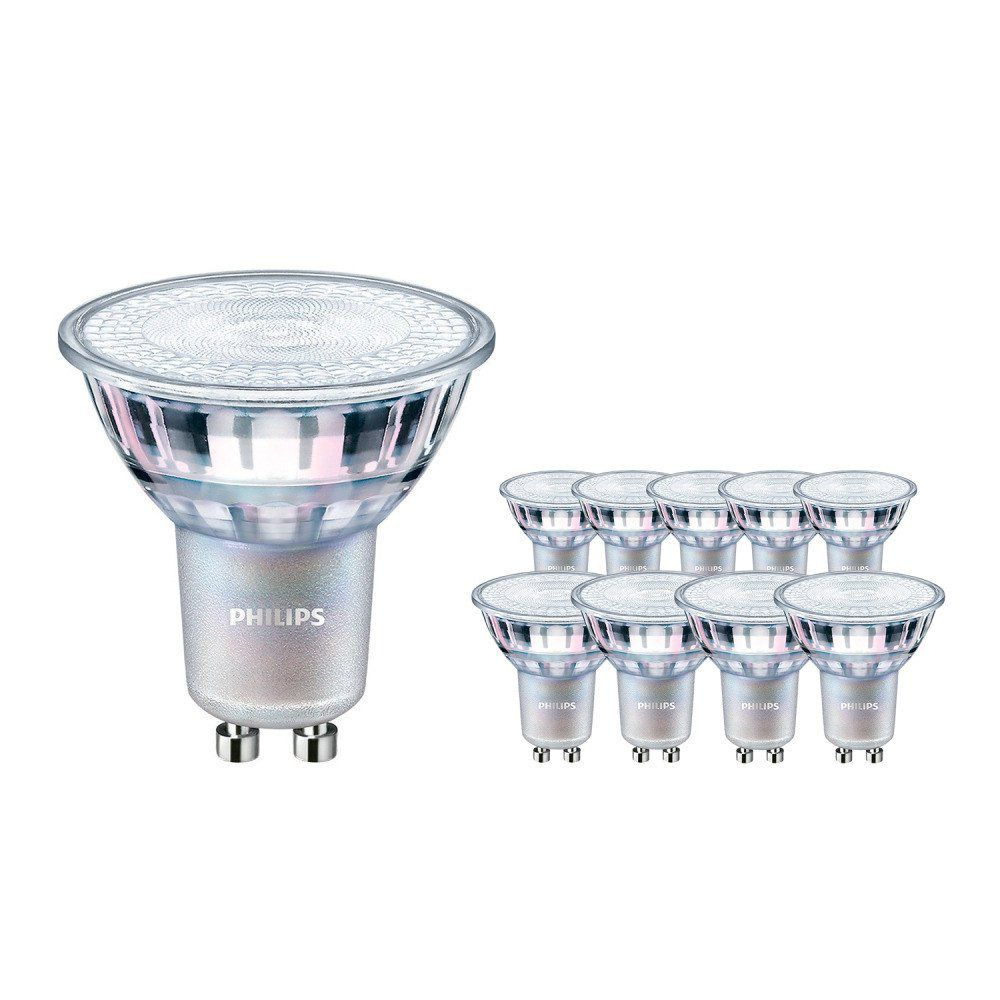 Multipack 10x Philips LEDspot MV Value GU10 4.9W 927 36D (MASTER) | Beste Kleurweergave - DimTone Dimbaar - Vervangt 50W