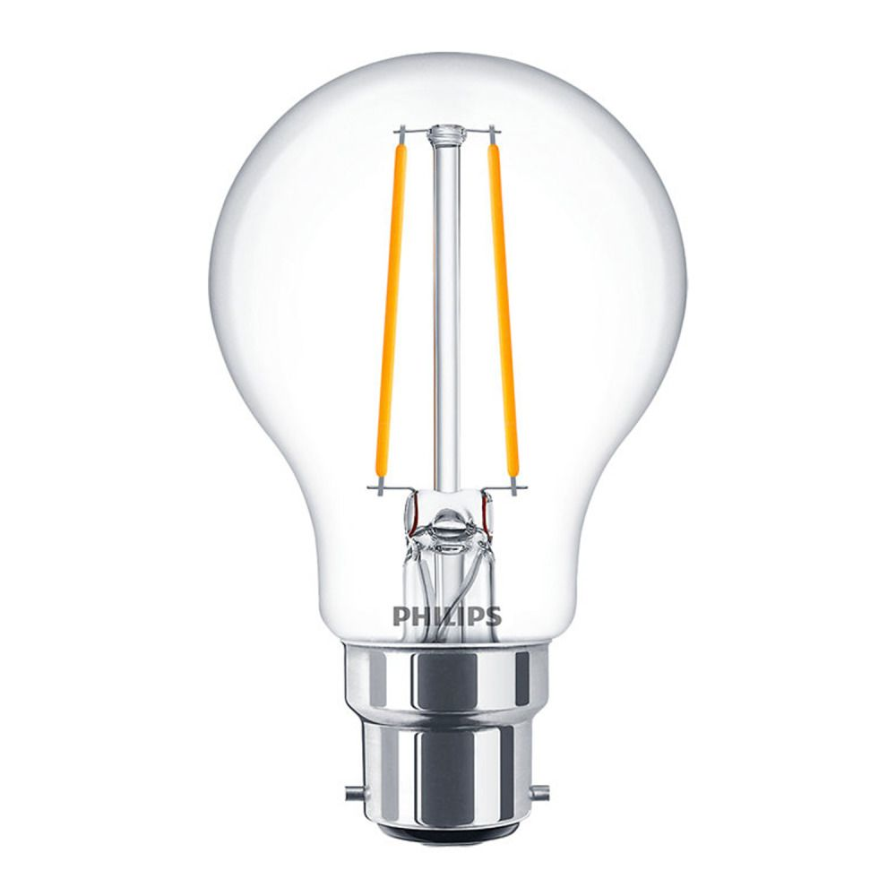 Philips Classic LEDbulb B22 A60 5.5W 827 Klar | Extra Warmweiß - Dimmbar - Ersatz für 40W