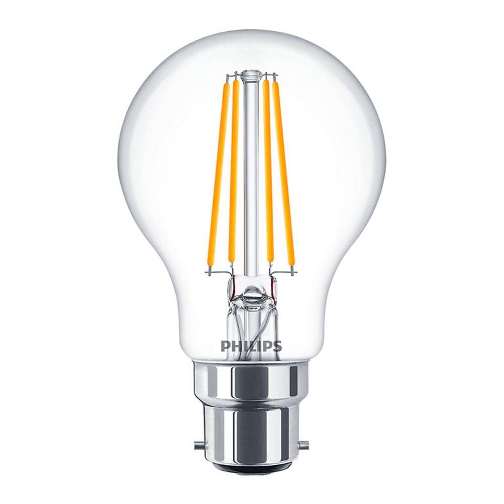 Philips Classic LEDbulb B22 A60 8W 827 Klar   Extra Warmweiß - Dimmbar - Ersatz für 60W