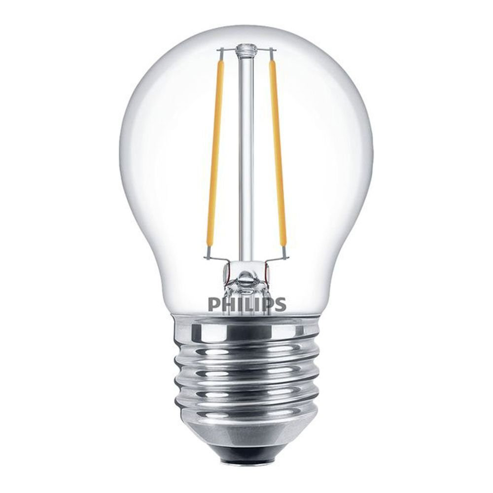 Philips Classic LEDlustre E27 P45 2.7W 827 Clear | Dimmable - Replaces 25W