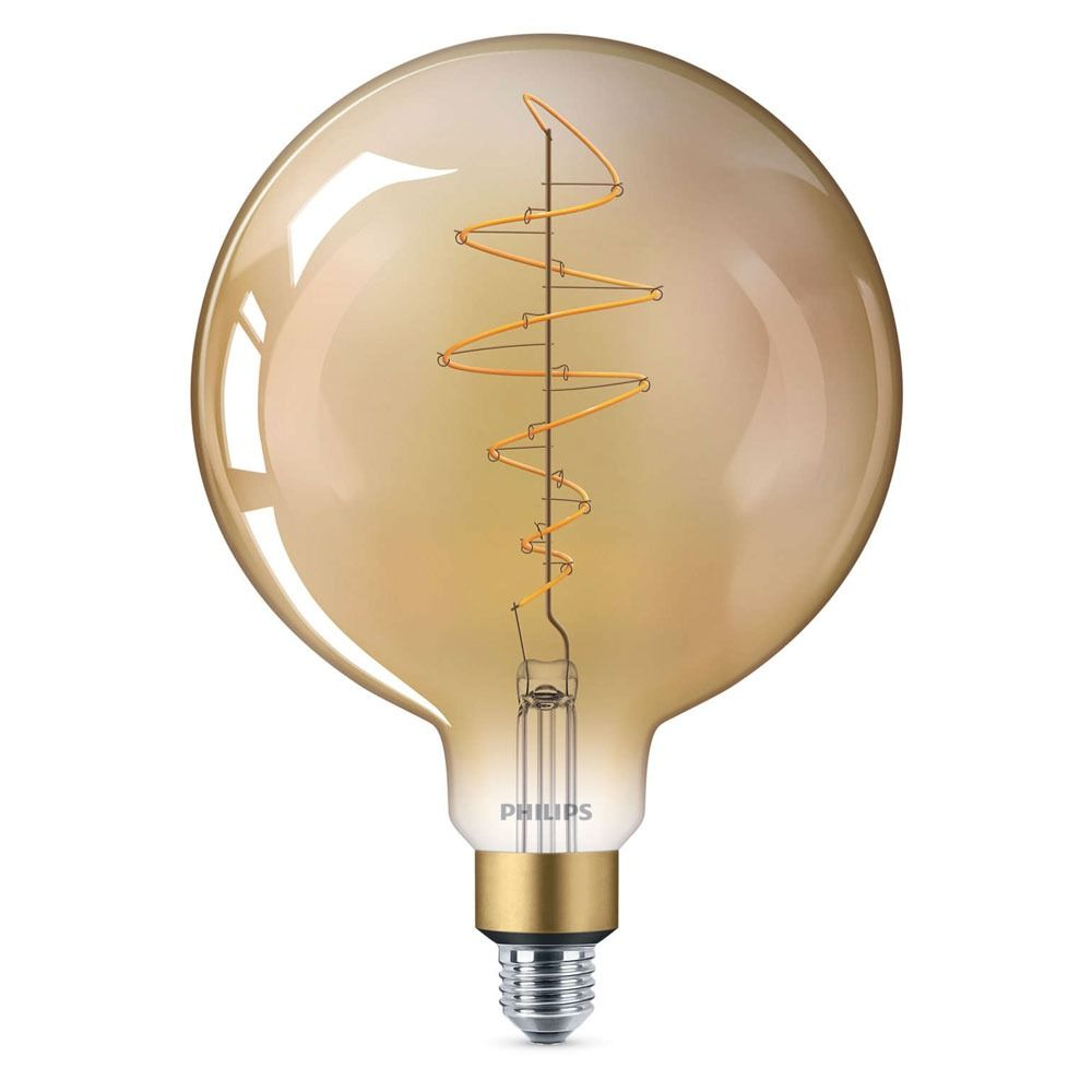 Philips Classic LED Giant Vintage Globe E27 G200 6.5W 820 Gold | Extra Warmweiß - Dimmbar - Ersetzt 40W