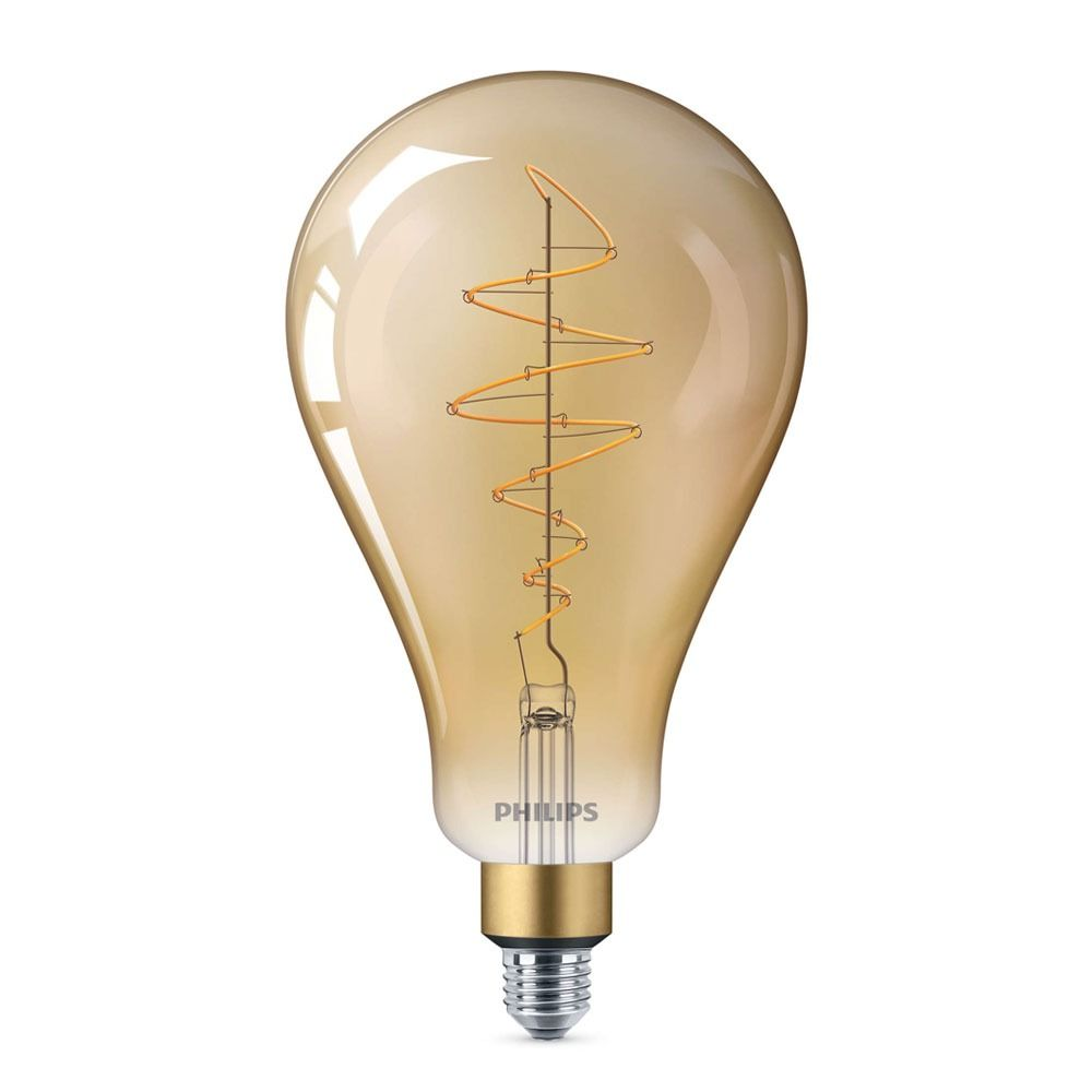 Philips Classic LED Giant Vintage E27 A160 6.5W 820 Gold | Extra Warm White - Dimmable - Replaces 40W