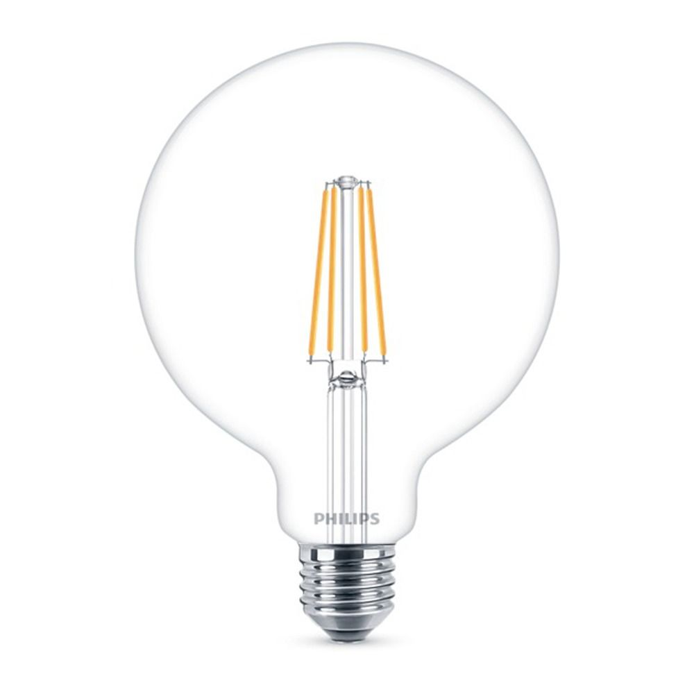 Philips Classic LEDglobe E27 G120 8W 827 Clear | Dimmable - Replaces 60W