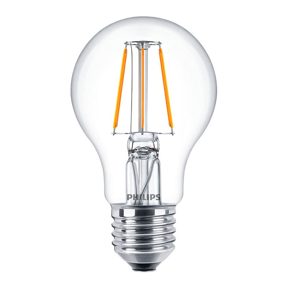 Philips Classic LEDbulb E27 A60 4.3W 827 Clear | Replaces 40W