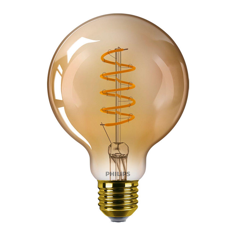 Philips Classic LEDglobe E27 G93 5.5W 820 Gold | Dimmbar - Ersatz für 25W