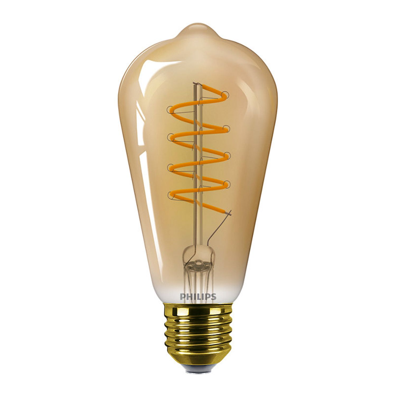 Philips Classic LEDbulb E27 ST64 5.5W 820 Gold | Dimmbar - Extra Warmweiß - Ersatz für 25W