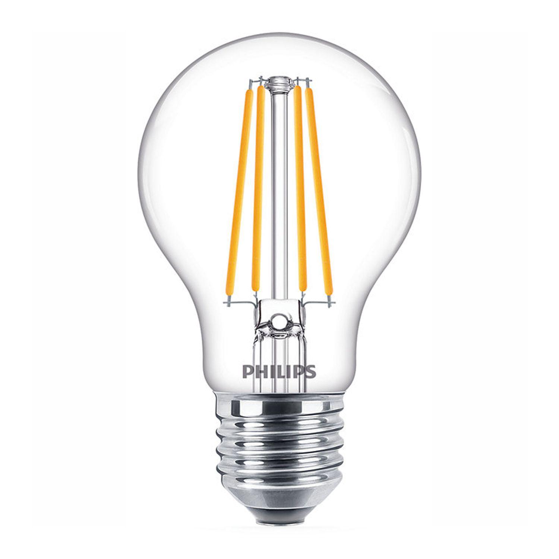 Philips Classic LEDbulb E27 A60 8.5W 840 Fadenlampe | Ersatz für 75W
