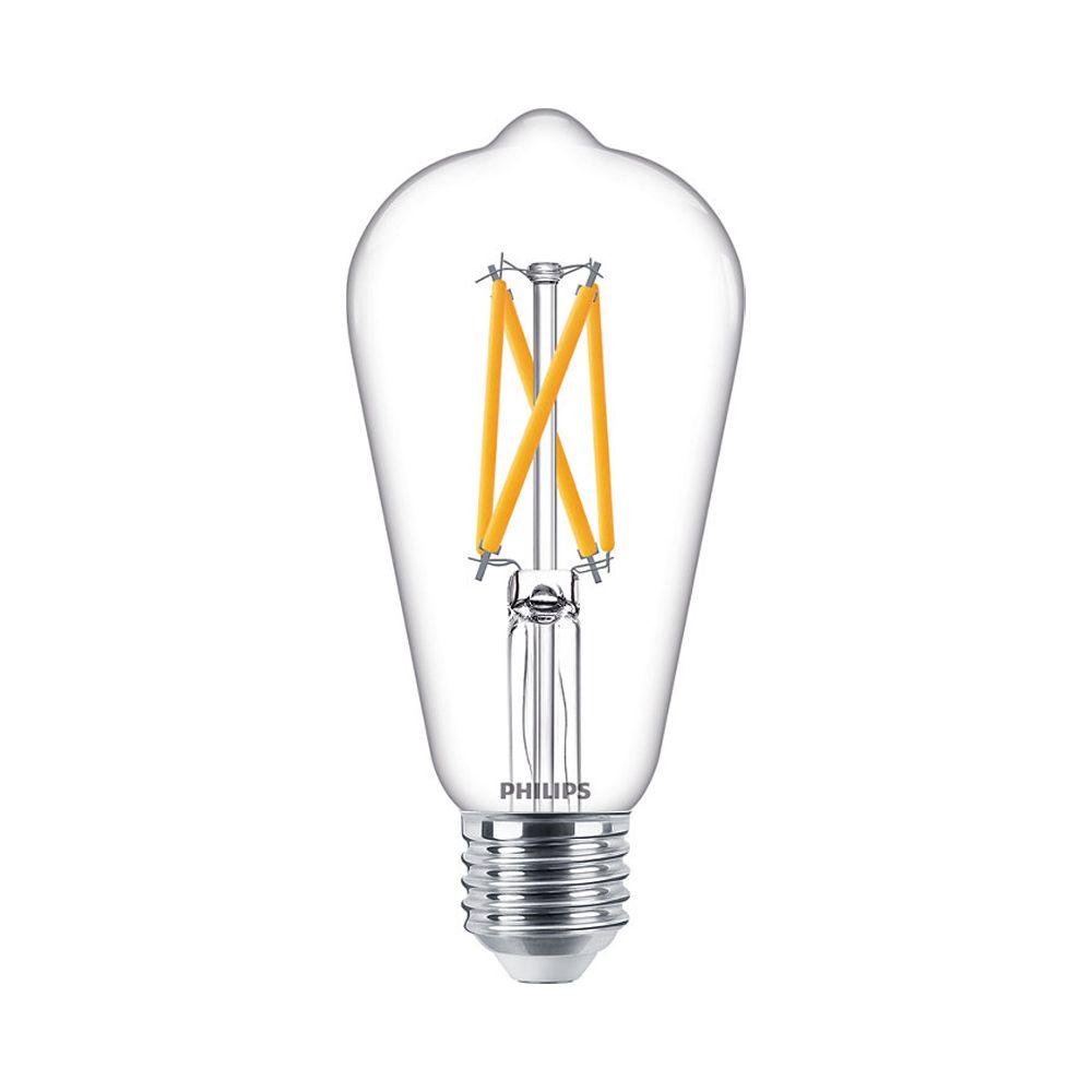 Philips Classic LEDbulb E27 ST64 7W 927 806lm con Filamento | DimTone - Luz muy Cálida - Reemplazo 60W