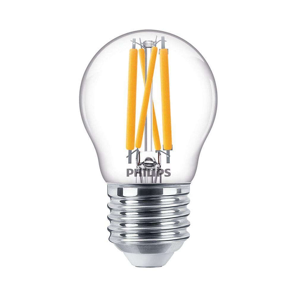 Philips Classic LEDlustre E27 P45 4.5W 927 470lm | DimTone - Extra Varm Vit - Ersättare 25W