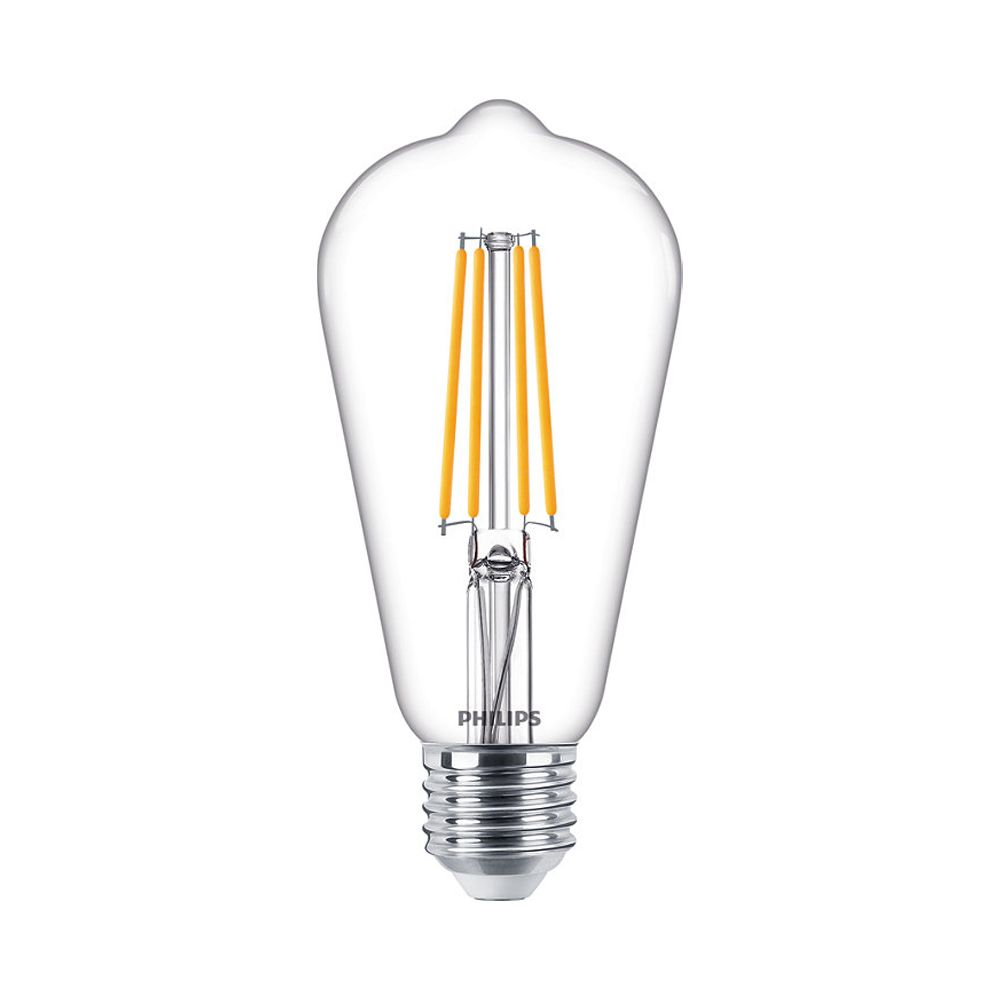 Philips Classic LEDbulb E27 ST64 7.2W 827 806lm | Dimmable - Extra Warm White - Replaces 60W