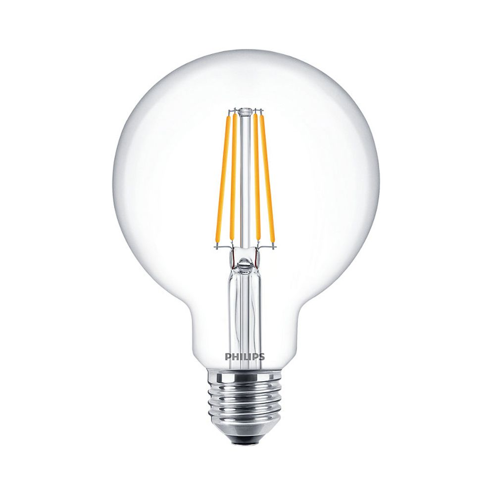 Philips Classic LEDbulb E27 G95 7.2W 827 806lm | Dimmable - Extra Warm White - Replaces 60W