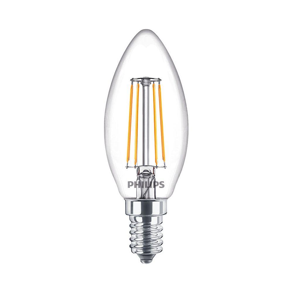 Philips Classic LEDcandle B35 E14 4.5W 827 470lm | Dimmbar - Extra Warmweiß - Ersatz für 40W
