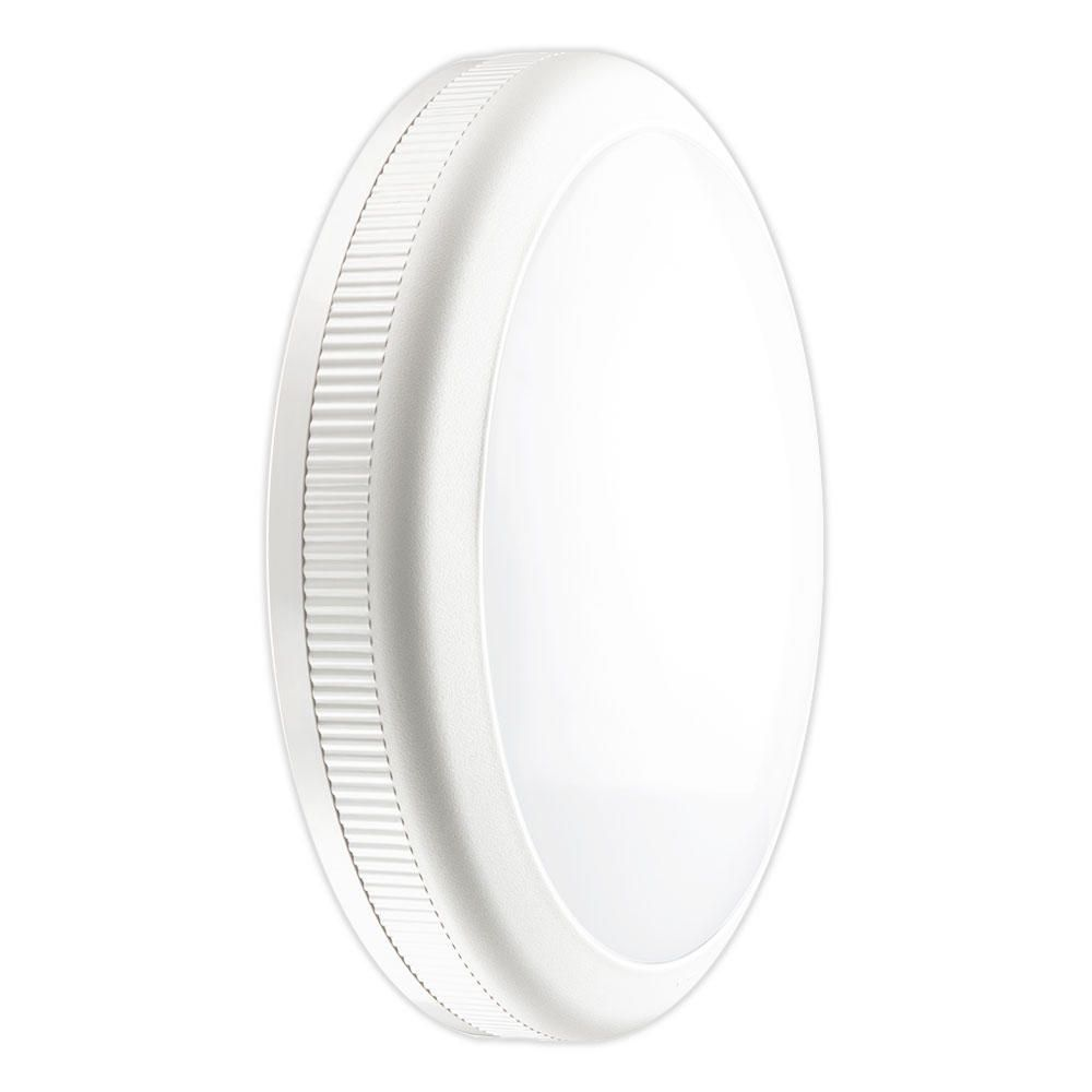 Noxion LED Bulkhead Econox Wall/Ceiling 20W 3000K | Warm White - Replaces 2x26W - Daylight Sensor