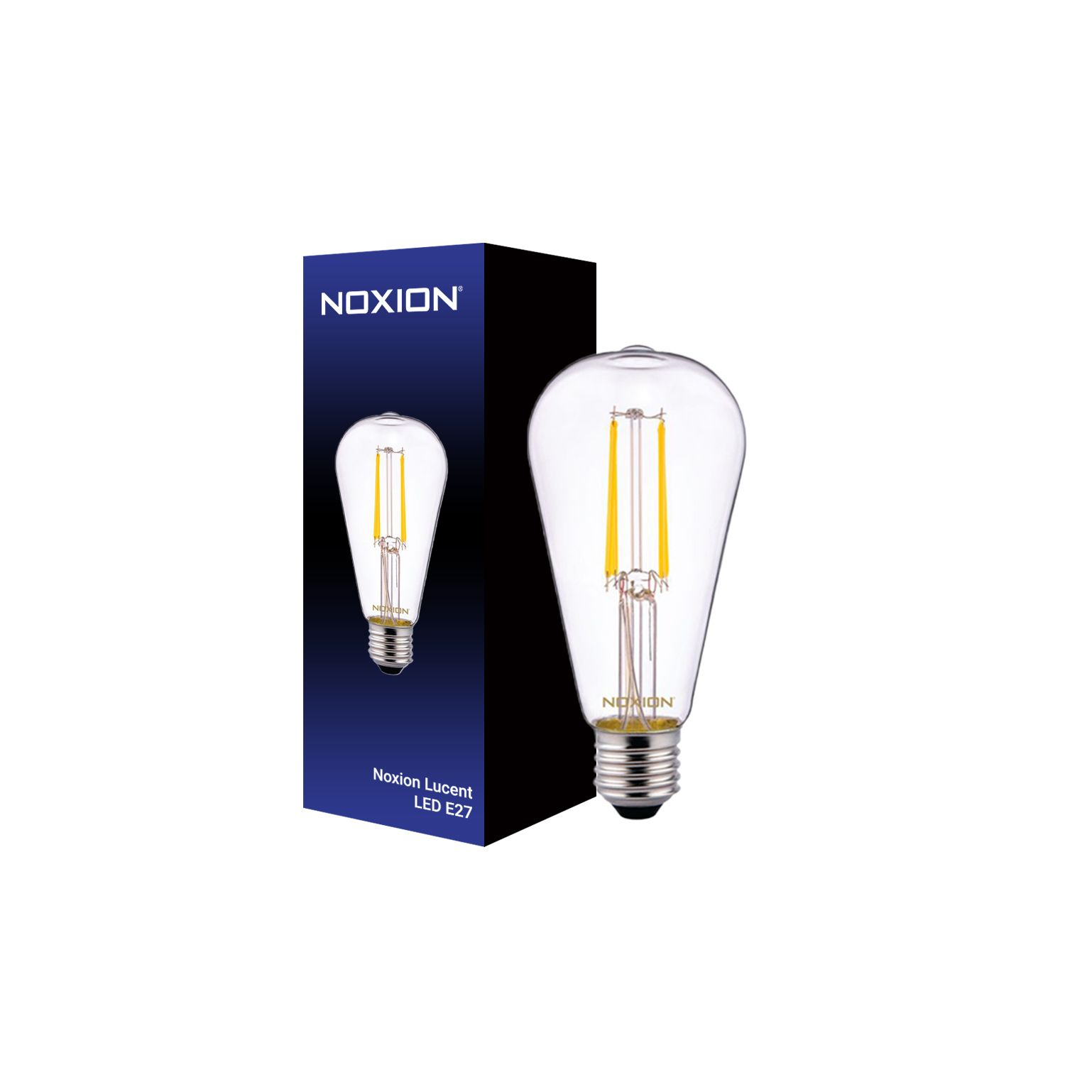 Noxion Lucent Classic LED Filament ST64 E27 4W 827 Clear | Extra Warm White - Replaces 40W