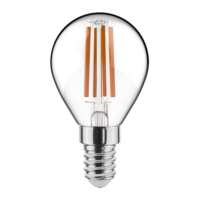 Noxion Lucent con Filamento LED Lustre 4.5W 827 P45 E14 Clara | Luz muy Cálida - Reemplazo 40W
