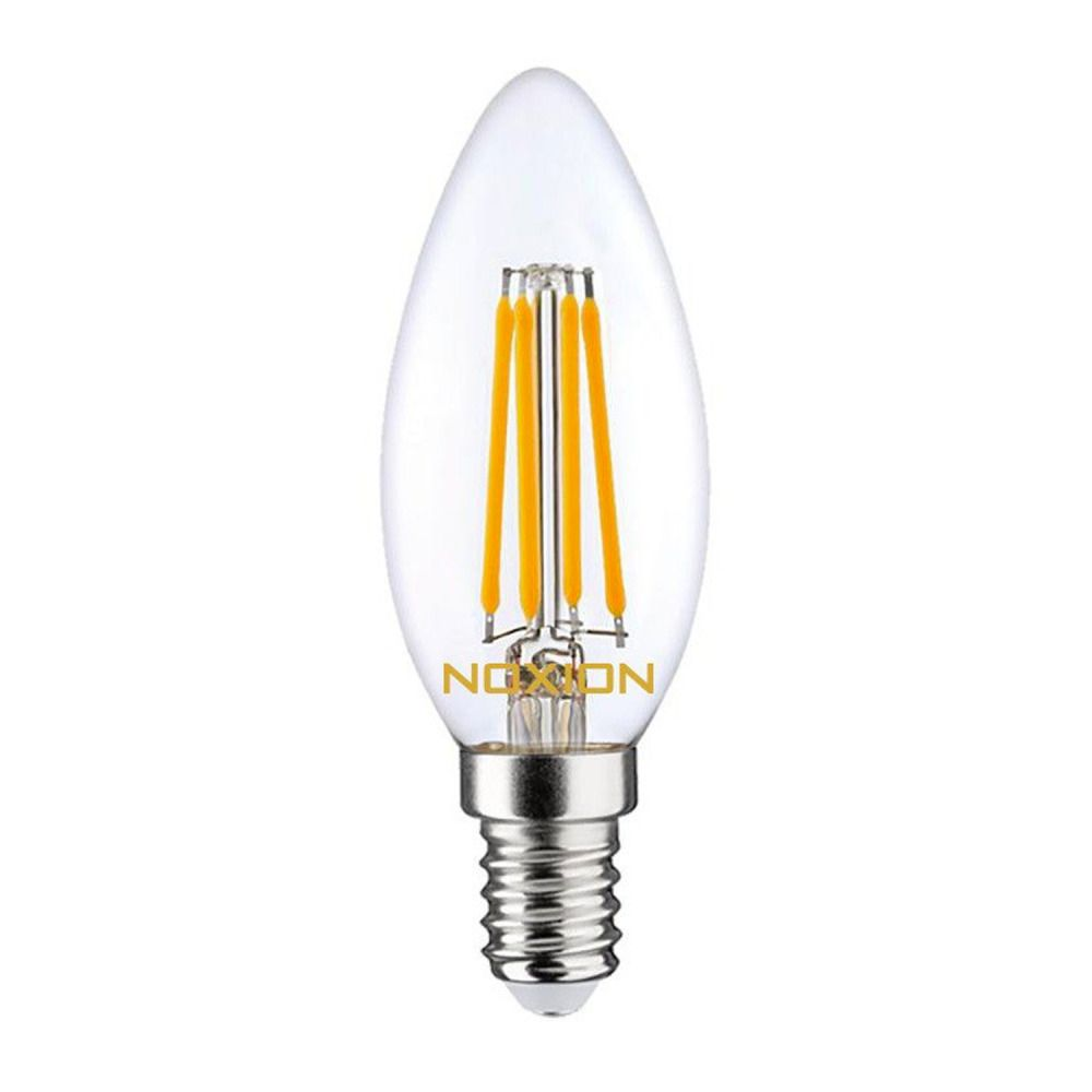 Noxion Lucent Filament LED Candle 4.5W 827 B35 E14 Clear | Replacer for 40W