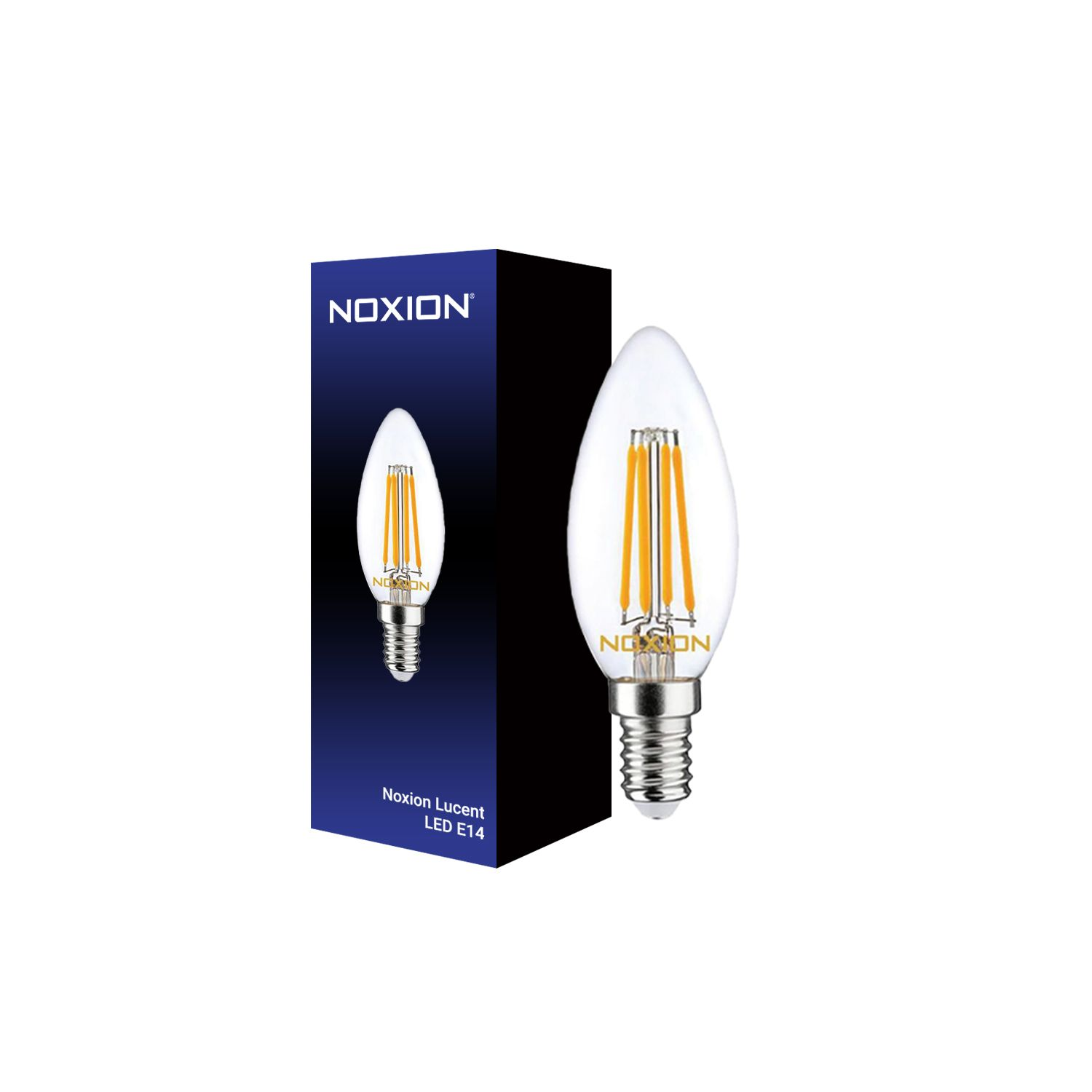 Noxion Lucent Filament LED Candle 4.5W 827 B35 E14 Clear | Dimmable - Replacer for 40W
