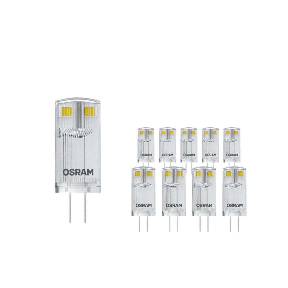 Mehrfachpackung 20x Osram LED P PIN10 W/827 12V CL G4