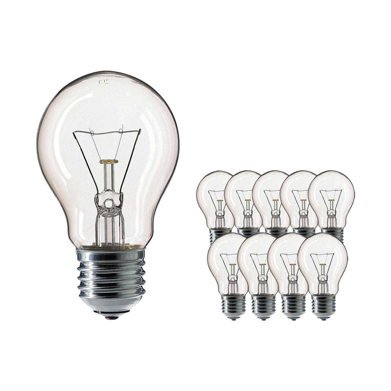 Mehrfachpackung 10x Standard Glühlampe Klar E27 100W 230V