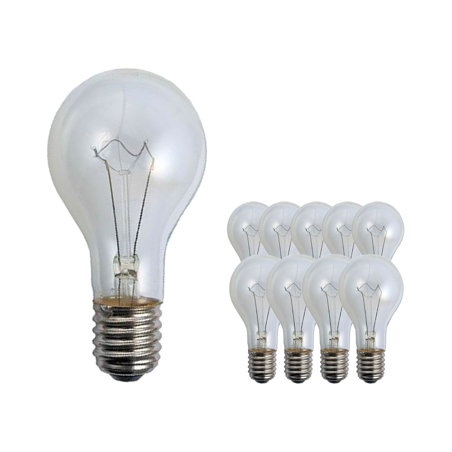 Multipack 10x Standard Incandescent Bulb Clear E40 300W 230V