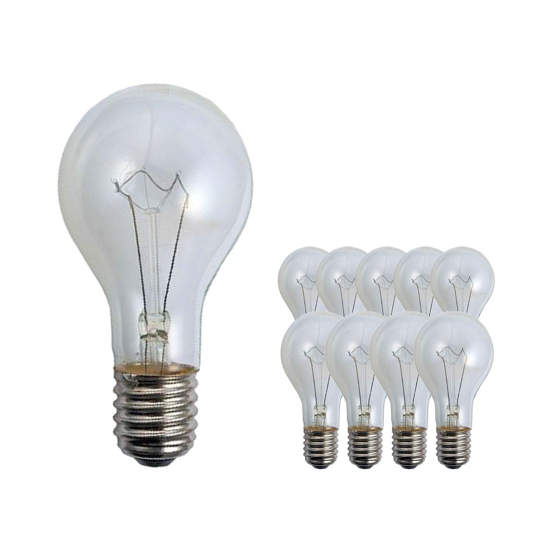 Mehrfachpackung 10x Standard Glühlampe Klar E40 500W 230V