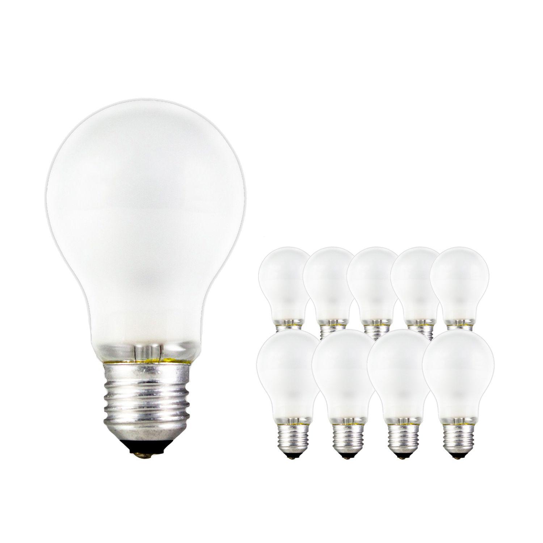 Mehrfachpackung 10x Standard Glühlampe Matt A55 E27 100W 230V