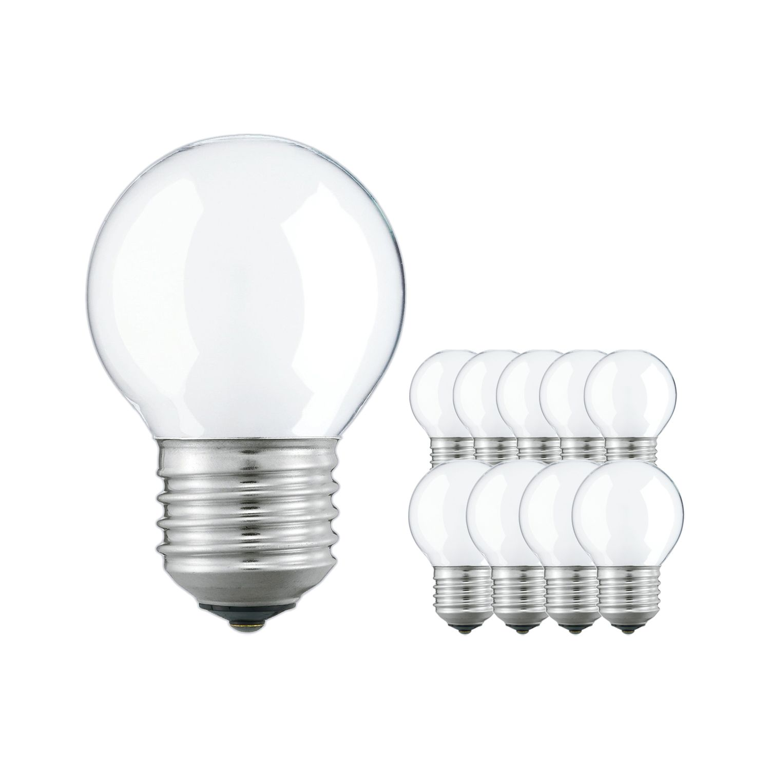 Multipack 10x Standard Incandescent Bulb Frosted P45 E27 25W 230V