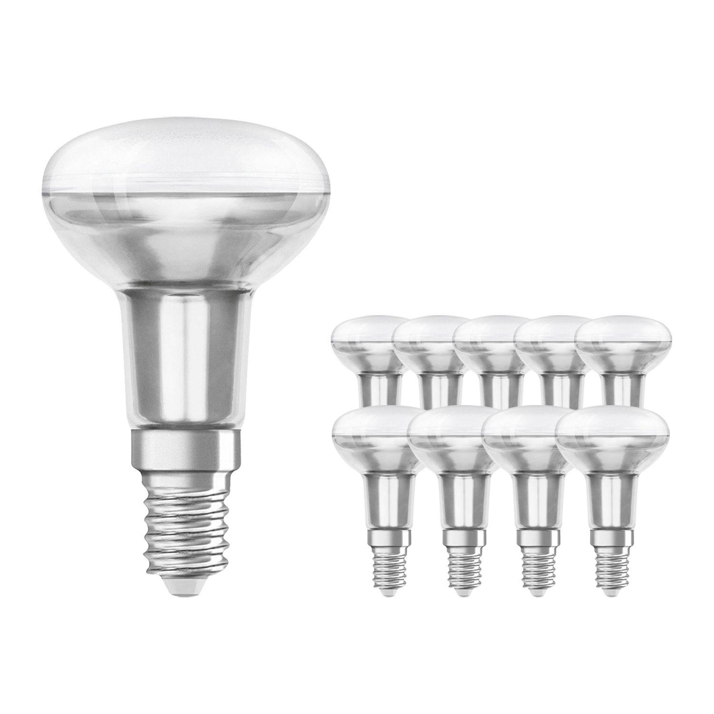 Mehrfachpackung 10x Standard Glühlampe Reflektor E14 R50 40W 230V