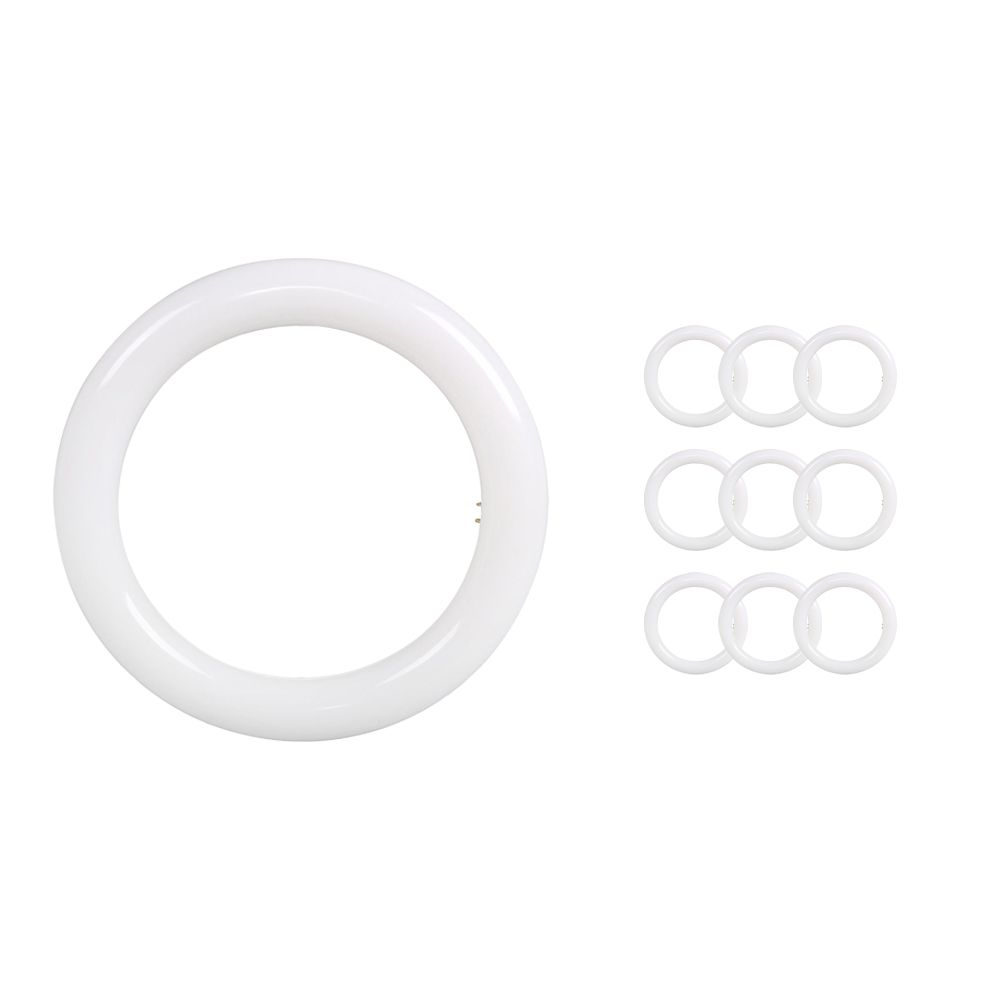 Monipakkaus 10x Noxion Avant LED T9 Tube Circular EM/MAINS G10q 20W 830 | Lämmin Valkoinen - Korvaa 40W
