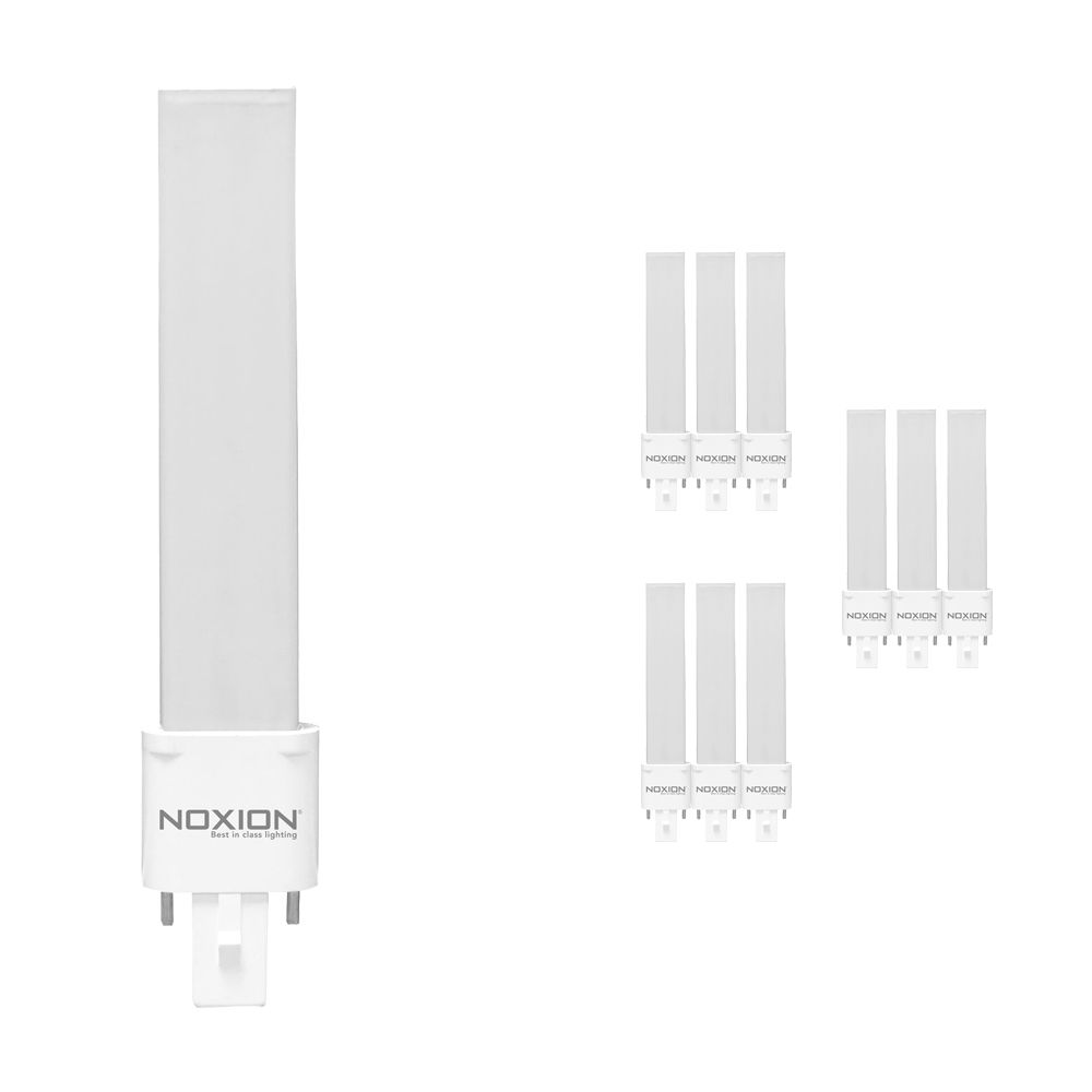 Multipack 10x Noxion Lucent LED PL-S EM 4.5W 840 | Cool White - 2-Pin - Replaces 10W and 13W