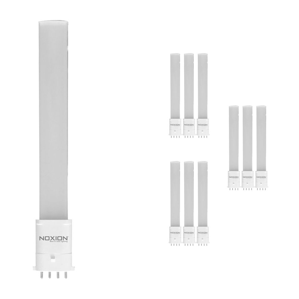 Multipack 10x Noxion Lucent LED PL-S HF 6W 840 | 4 Pin - Replacer for 11W