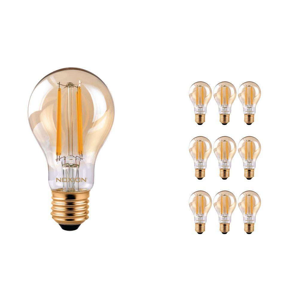 Multipack 10x Noxion Lucent Classic LED Gloeilamp A60 E27 8W 822 Helder | Dimbaar - Vervanger voor 50W