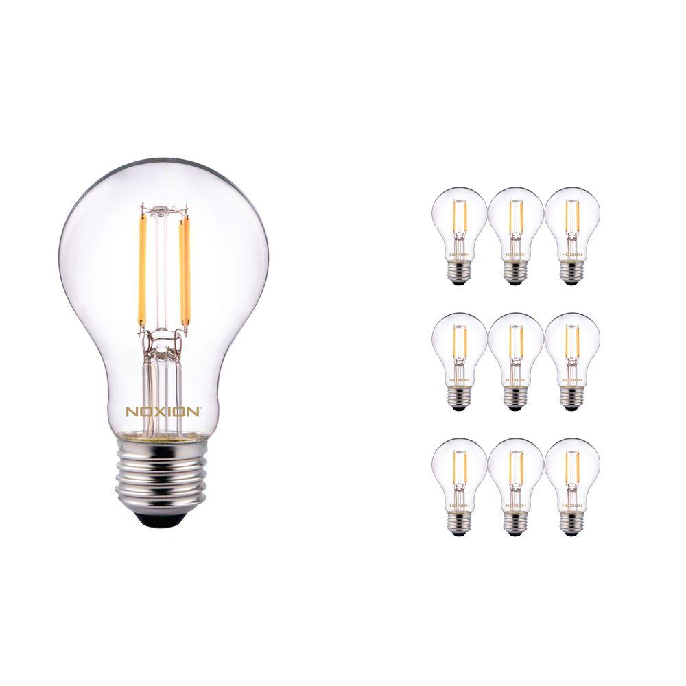 Fordelspakning 10x Noxion Lucent Classic LED filament A60 E27 8W 822-827 klar | dimbar - ekstra varm hvit - erstatter 60W